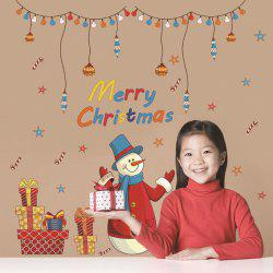 Merry Christmas Snowman Gifts Decorative Wall Art Stickers