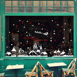 Christmas Snow Town Removable Glass Window Wall Stickers