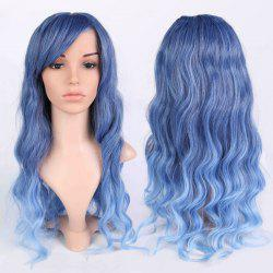 Long Ombre Inclined Bang Wavy Shaggy Anime Wigs - COLORMIX