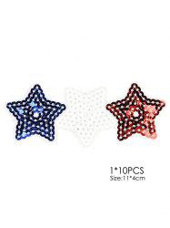 10 PCS Pentagram Embroidered Patches -
