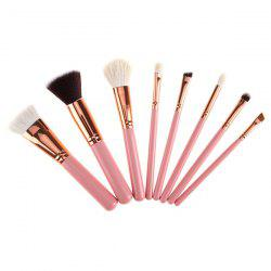 8 Pcs Goat Hair Makeup Brushes Set