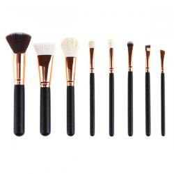 8 Pcs Goat Hair Face Makeup Brushes Set