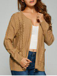 Cable Knit Cardigan With Pockets -