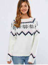Merry Christmas Snowflake Sweater