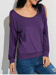 Cold Shoulder Convertible Keyhole T-Shirt