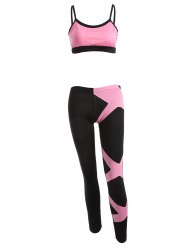 Color Splicing Gym Outfits