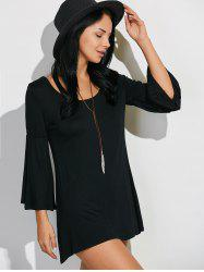 Bell Sleeves Mini T-Shirt Dress