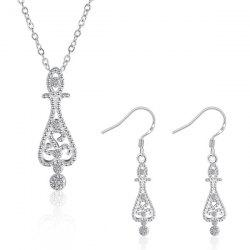Water Drop Jewelry Set - SILVER