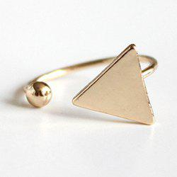 Triangle Bead Cuff Ring - GOLDEN