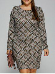 Plaid Sheath T-Shirt Dress -