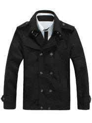 Turndown Collar Double-Breasted Jacket -