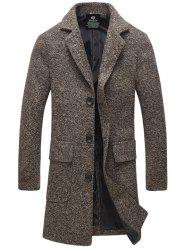 Turndown Collar Single-Breasted Lengthen Woolen Coat