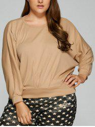 Plus Size Dolman Sleeve Sweatshirt