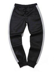 Sportive Color Block Big and Tall Jogger Pants -