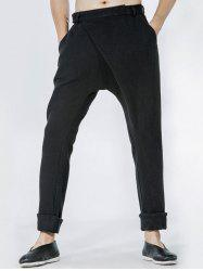Single Pocket Back Drop Crotch Wrap Pants