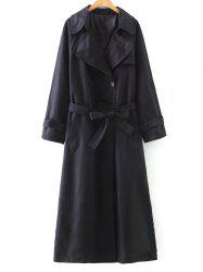 Double-Breasted Belted Maxi Trench Coat -