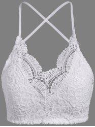 Spaghetti Straps Padded Lace Bra Top