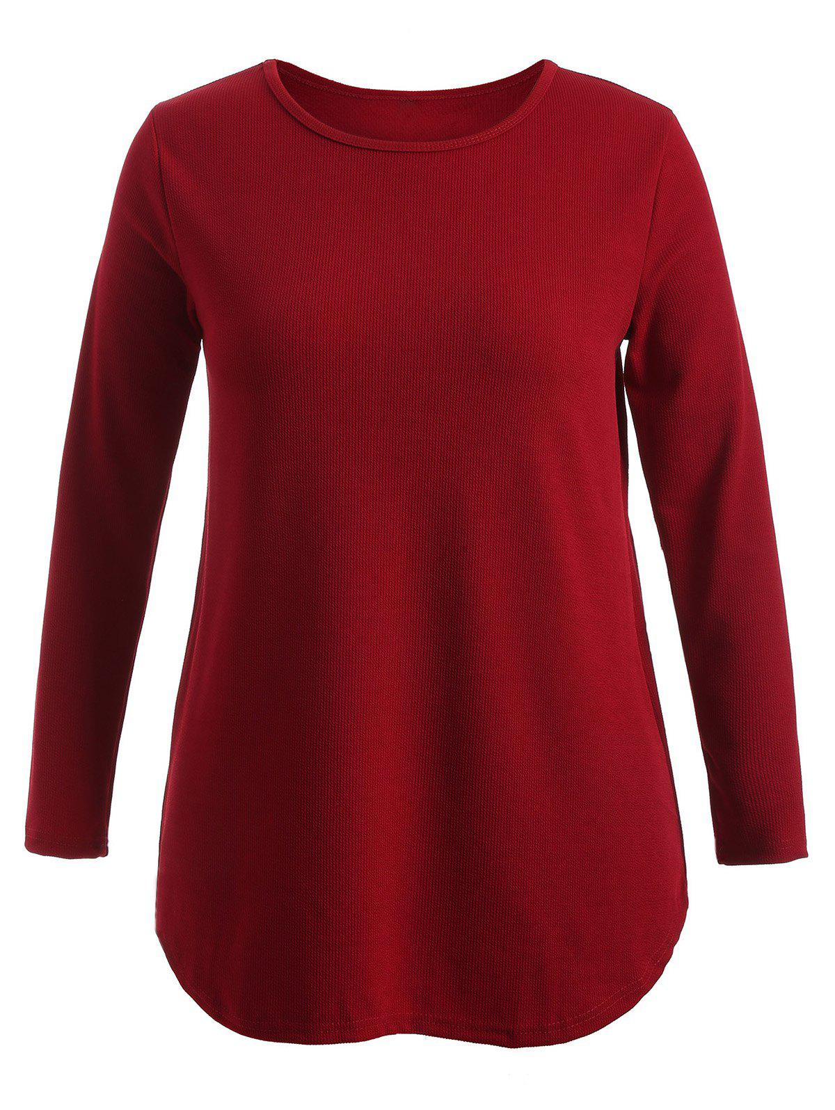 Shop Plus Size Knitwear with Arc Hem