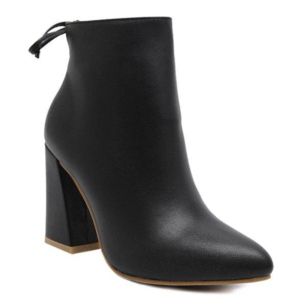 Affordable Conicse Pointed Toe Chunky Heel Boots