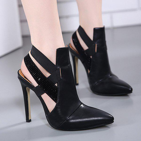 Hot Stiletto Heel Cut Out Pointed Toe Pumps
