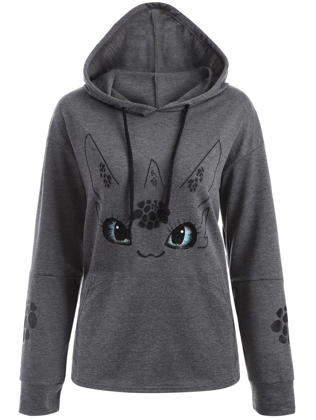 Trendy Cartoon Character Graphic Hoodie