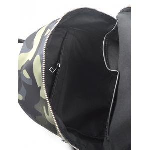 Splicing Camouflage Pattern Tassels Backpack - CAMOUFLAGE