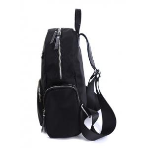 Zippers Pockets Splicing Backpack -