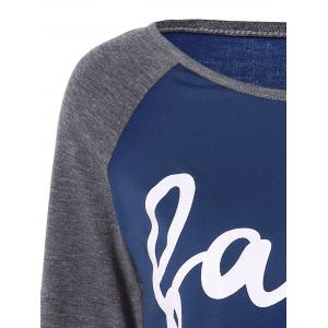 Faith  Raglan Sleeve T-Shirt - DEEP BLUE XL