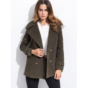 Pocket Slim Fit Peacoat - Army Green - L