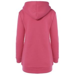 Embroidered Royal Letter Pocket Hoodie - WATERMELON RED 2XL