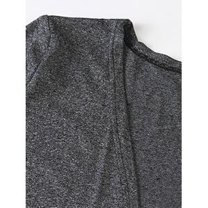 Heathered Plus Size Cardigan With Pockets - DEEP GRAY 6XL