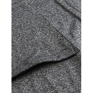 Heathered Plus Size Cardigan With Pockets - DEEP GRAY 5XL