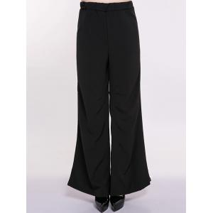 Plus Size High Waist Wide-Leg Pants