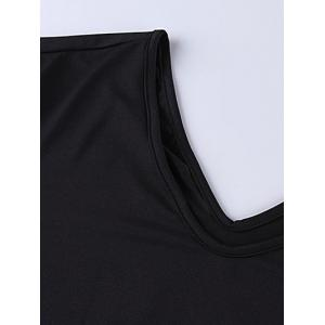 Plus Size Ruched Long Formal Dress with Sleeves - BLACK 7XL