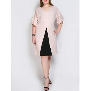 Color Splicing Sheath Dress