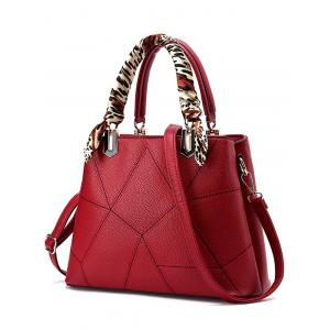 Geometric Pattern PU Leather Scarves Handbag