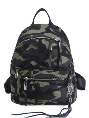 New Splicing Camouflage Pattern Tassels Backpack CAMOUFLAGE