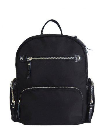 Cheap Zippers Pockets Splicing Backpack