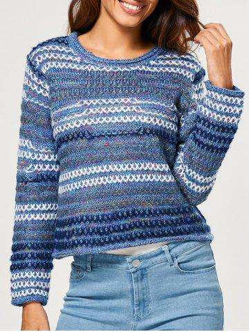 Heather Stripe Short Sweater