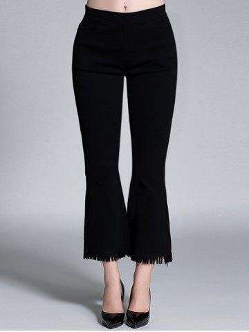 Shops Plus Size High Waisted Bootcut Fringed Pants