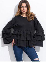 Long Sleeve Tiered Blouse