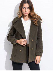 Pocket Slim Fit Peacoat - ARMY GREEN