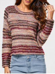 Heather Stripe Short Sweater -