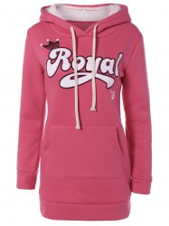 Embroidered Royal Letter Pocket Hoodie