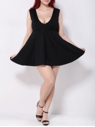 Mini Swing Empire Waist Plus Size Club Dress