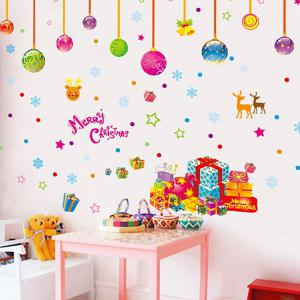 Colorful Merry Christmas Removable Children's Room Wall Stickers - COLORFUL
