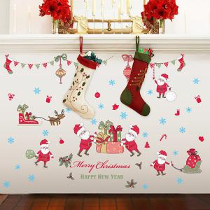Colorful Merry Christmas Bedroom Removable  Wall Stickers - COLORFUL