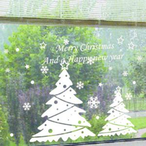 Christmas Tree Removable Glass Window Wall Stickers -