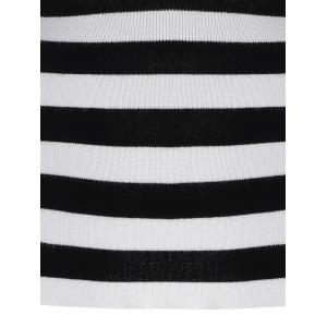 Puff Sleeve Striped Short Knitwear -