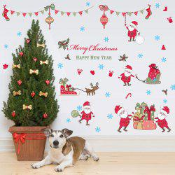 Colorful Merry Christmas Bedroom Removable  Wall Stickers